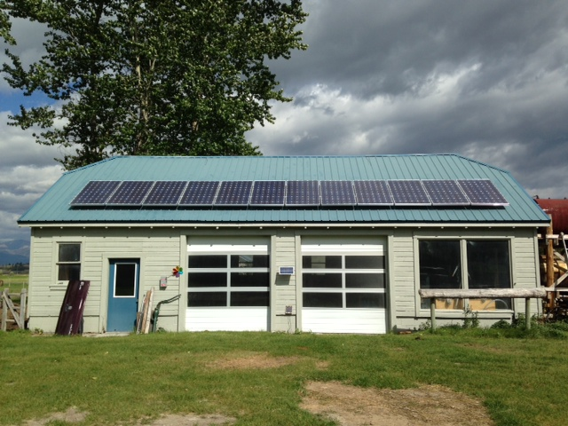 12 -235 watt solar modules which create a 2,820 watt solar array in Hamilton MT