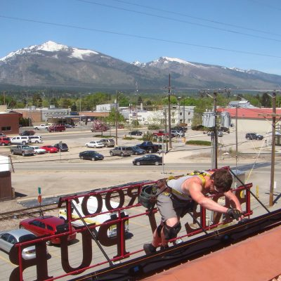 Installing Bitterroot Brewery Hamilton Montana Photovoltaic System