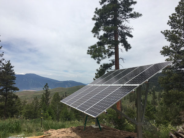 Solar Electric Pole Mount